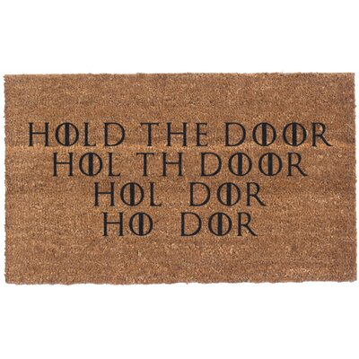 Hold the Door Vinyl Backed Doormat