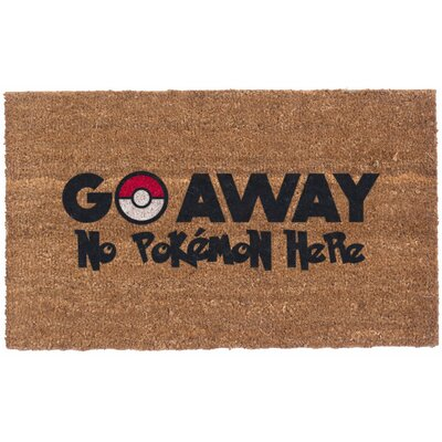 Colored Pokemon Go Away Doormat