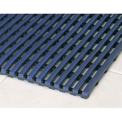 Heron Rib Drainage Anti-Fatigue Doormat Rug Size: 3 x 5, Color: Oxford Blue