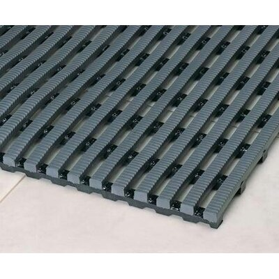 Heron Rib Drainage Anti-Fatigue Doormat Color: Gray, Rug Size: Runner 3 x 10
