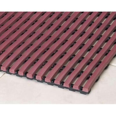Heron Rib Drainage Anti-Fatigue Doormat Rug Size: 3 x 5, Color: Brick Red