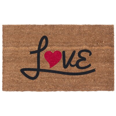 Love Heart Door Mat