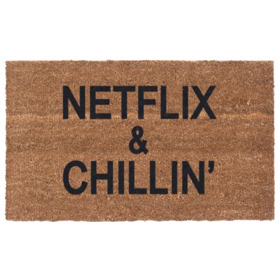 Netflix & Chillin Door Mat