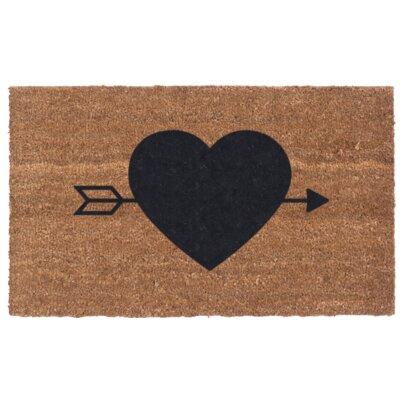 Heart N Arrow Door Mat