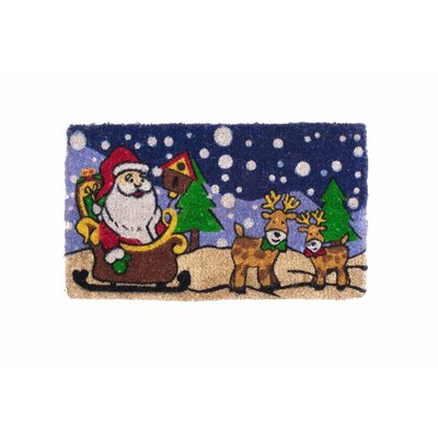 Santa Claus Is Coming to Town Design Doormat