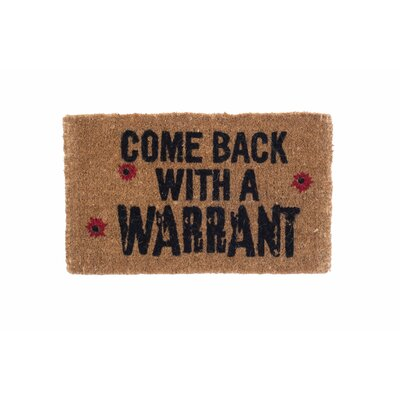 Sylvan Come Back with a Warrant Doormat