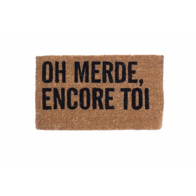 Oh No Not You Again French Doormat