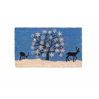 Relaxing Reindeer Doormat