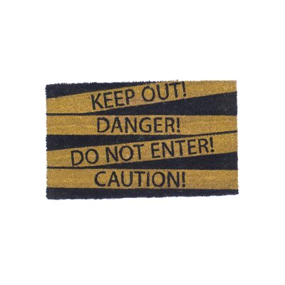 Danger Do Not Enter Doormat