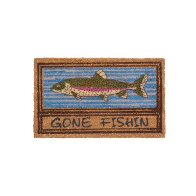 Gone Fishin Doormat