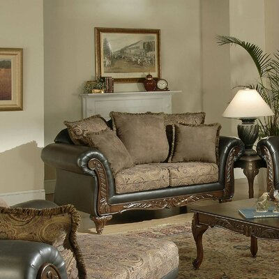 Upholstered Loveseat Upholstery: San Marino Chocolate / Silas Raisin