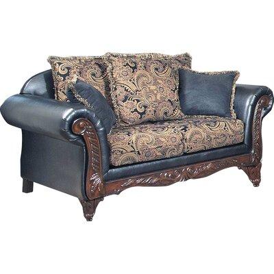 Upholstered Loveseat Upholstery: San Marino Ebony/Silas Ebony / Sienna Ebony