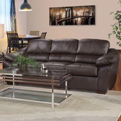 Serta The Pinery Leather Sofa