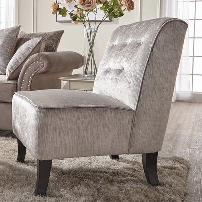 Shea Slipper Chair Upholstery: Rockstar Prussian