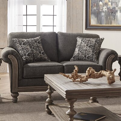 Allmon Loveseat Upholstery: Element Obsidian