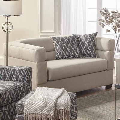 Elan Upholstery Loveseat Upholstery: Arizona Putty
