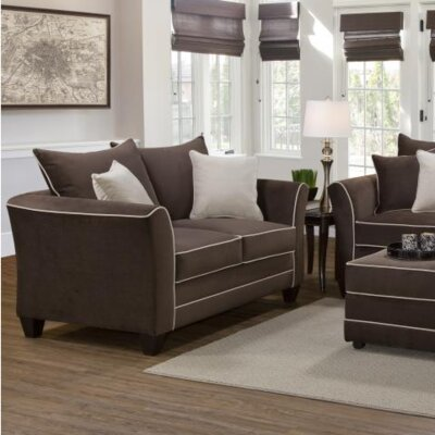 Agnes Upholstery Sofa Upholstery: Bing Chocolate