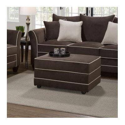 Agnes Upholstery Ottoman Upholstery: Bing Chocolate