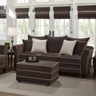 Agnes Upholstery Sofa Upholstery: Bing Chocolate