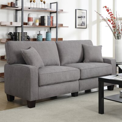 Serta� RTA Palisades 78 Sofa Upholstery: Glacial Gray