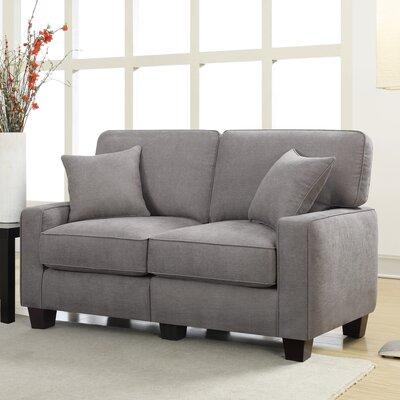 Serta� RTA Palisades 61 Loveseat Upholstery: Glacial Gray
