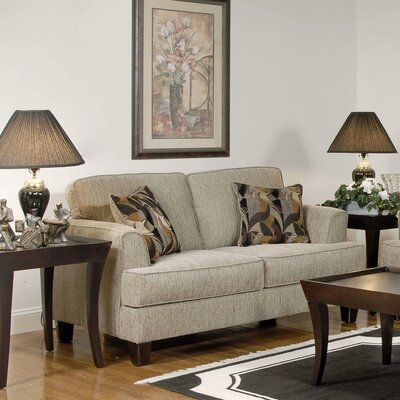 Serta Upholstery Whitaker Loveseat Upholstery: Soprano Radical / Peppercorn