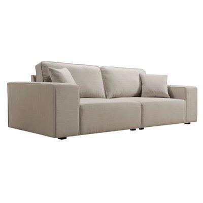 Birge Sofa Upholstery: Bellvue Cream