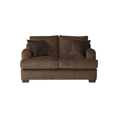 Handler Loveseat Upholstery: Bronco Sable/Coffee