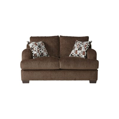 Handler Loveseat Upholstery: Bronco Sable/Brown