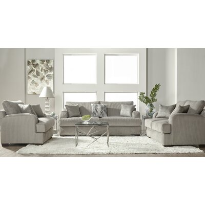 Handler 3 Piece Configurable Living Room Set