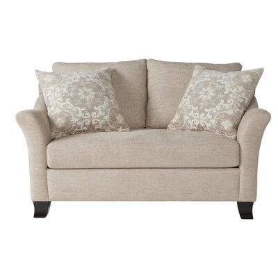 Alvah Loveseat Upholstery: Lilou Almond