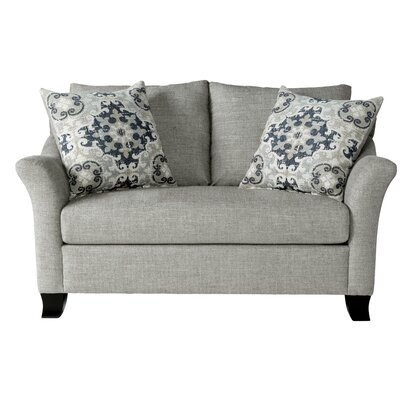 Alvah Loveseat Upholstery: Lilou Heather