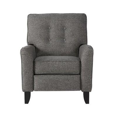 Zeiger Manual Recliner Upholstery: Mascot Mocha