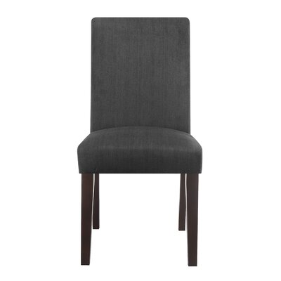 Liam Upholstered Dining Chair Color: Boston Midnight