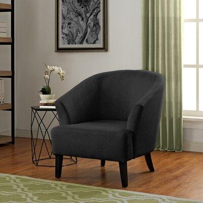 Artesia Barrel Chair Upholstery: Midnight Black