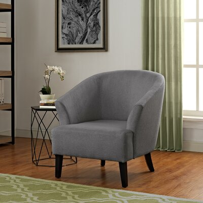 Artesia Barrel Chair Upholstery: Gunmetal Gray