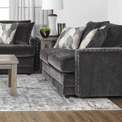 Hesse Loveseat Upholstery: Dark Brown