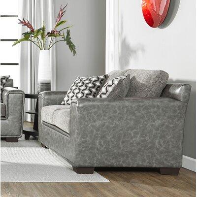 Longoria Eclispe Loveseat Upholstery: Dark Gray