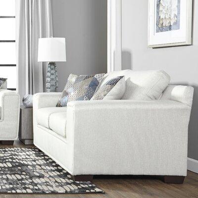 Longoria Eclispe Loveseat Upholstery: White