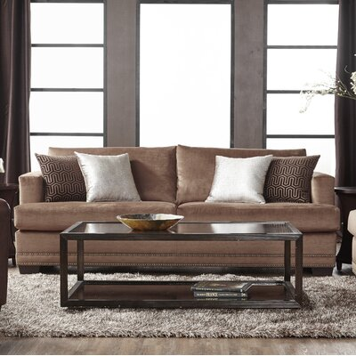 Heslin Sofa Upholstery: Brown
