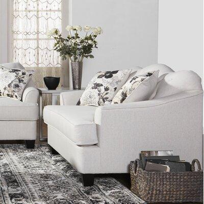 Meade Loveseat Upholstery: White