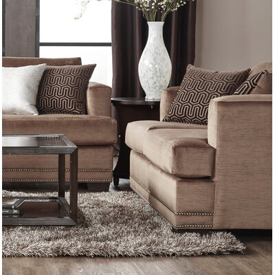Heslin Loveseat Upholstery: Brown