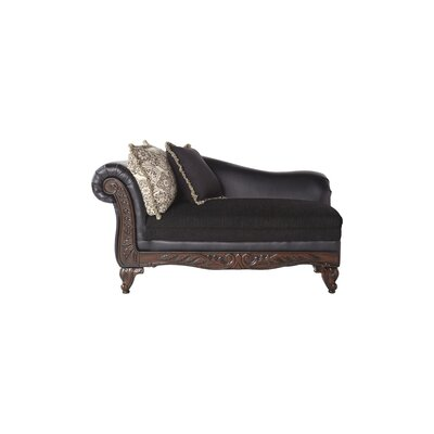 Chaise Lounge Leather: Brown