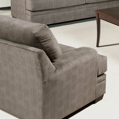Armchair Upholstery: Smoothie Gray / Wagelength Desert