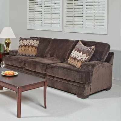 Vermont Sofa Upholstery: Olympian Chocolate / Padma Otter