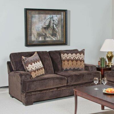 Loveseat Upholstery: Olympian Chocolate / Padma Otter