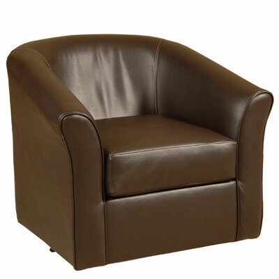 Swivel Barrel Chair Upholstery: San Marino Chocolate