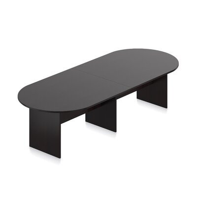Superior Oval Conference Table Size: 10 L, Finish: American Espresso