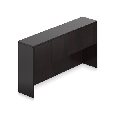 36 H Desk Hutch Size: 71 W, Finish: American Espresso