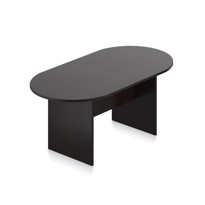Superior Oval Conference Table Size: 6 L, Finish: American Espresso